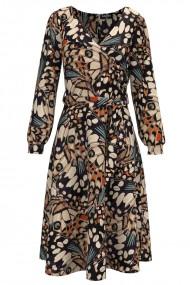 Rochie eleganta cu maneca lunga imprimata Aripi de fluture CMD1484