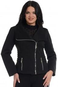 Jacheta cu fermoare metalice Dress To Impress Neagra