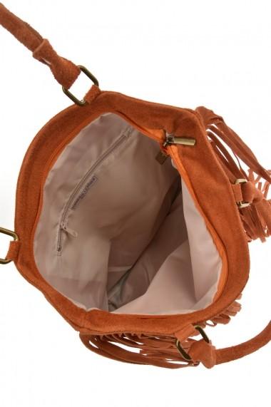 Geanta din piele Promesse PR6211 Portocaliu