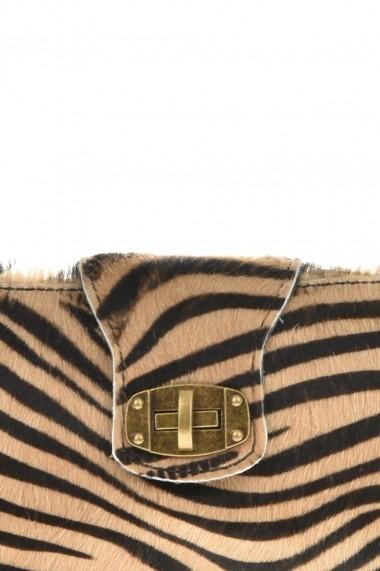 Geanta din piele Promesse PR6237 Animal print