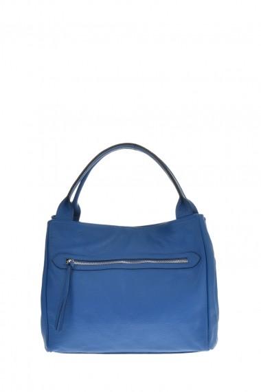 Geanta din piele Promesse PR6306 Albastru