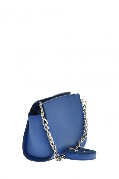 Geanta din piele Promesse PR6360 Albastru