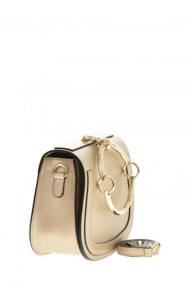 Geanta din piele Promesse PR6361 Auriu