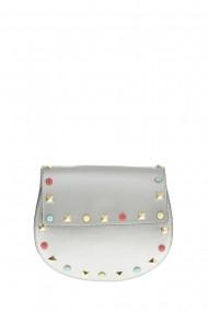 Geanta din piele Promesse PR6375 Argintiu