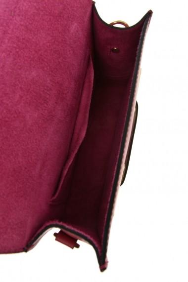 Geanta din piele Promesse PR6378 Fuchsia