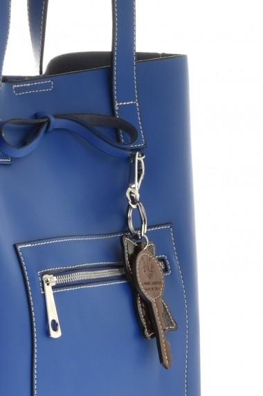 Geanta din piele Promesse PR6440 Albastru