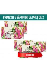 Set 5 sapunuri vegetal cu Fructul Dragonului Florinda 100 g La Dispensa