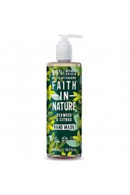 Sapun lichid natural cu alge marine si citrice Faith in Nature 400 ml