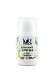 Deodorant roll on natural cu musetel si aloe vera Faith in Nature 50 ml