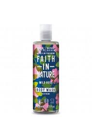 Gel de dus natural hidratant cu trandafir salbatic Faith in Nature 400 ml