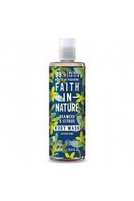 Gel de dus natural detoxifiant cu alge marine si citrice Faith in Nature 400 ml