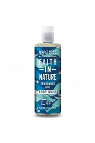 Gel de dus natural fara parfum hipoalergenic pentru piele sensibila Faith in Nature 400 ml