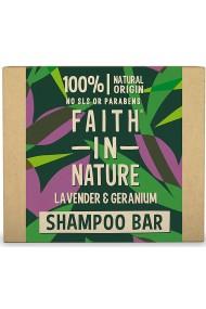 Sampon natural solid cu lavanda si muscata pentru toate tipurile de par Faith in Nature 85 gr