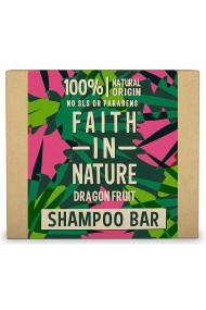 Sampon natural solid fortifiant cu fructul dragonului pentru par deteriorat vopsit Faith in Nature 85 gr