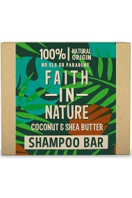 Sampon natural solid nutritiv cu cocos si unt de shea pentru par uscat Faith in Nature 85 gr