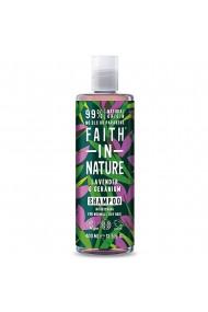 Sampon natural nutritiv cu lavanda si muscata pentru par normal si uscat Faith in Nature 400 ml