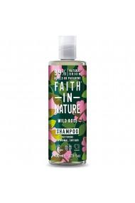 Sampon natural reparator cu trandafir salbatic pentru toate tipurile de par Faith in Nature 400ml