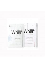 Set Masca coreana pentru luminozitate cu vitamina C Snow Song 115 ml Simply When (5 buc)