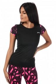 Tricou fitness femei slazenger felix v2 negru