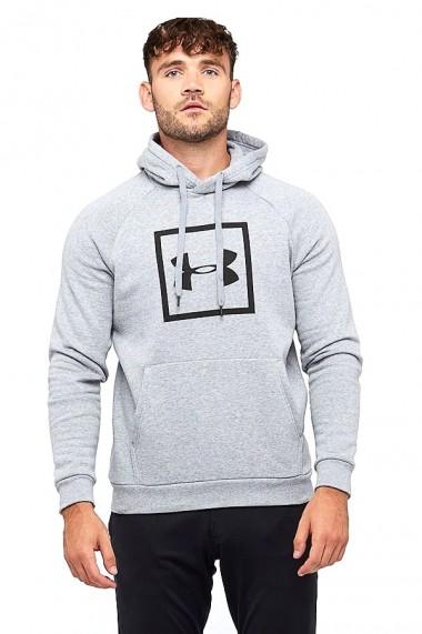 Hanorac barbati ua rival fleece logo hoodie gri