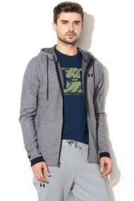 Hanorac barbati under armour unstoppable 2x knit fz hoodie gri