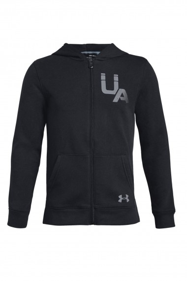 Hanorac copii under armour ua rival logo full z negru
