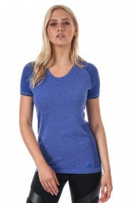 Tricou sport femei adidas run pknit tee w albastru