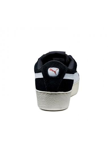 Tenisi femei puma vikky platform ribbon negru alb