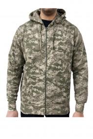 Hanorac barbati game technical apparel zip hoodie digital desert verde