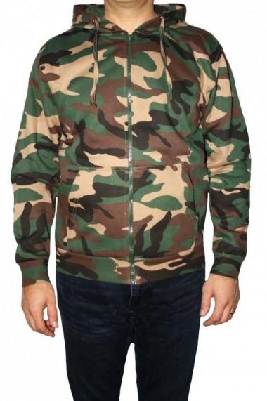 Hanorac barbati game technical apparel zip hoodie woodland verde