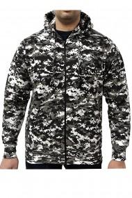 Hanorac barbati game technical apparel zip hoodie digital urban gri