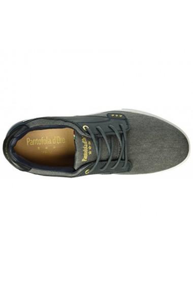 Tenisi barbati pantofola d`oro prato canvas low gri albastru