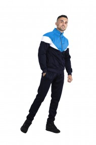 Trening barbati j5 fashion ts2417 colourblock bleumarin