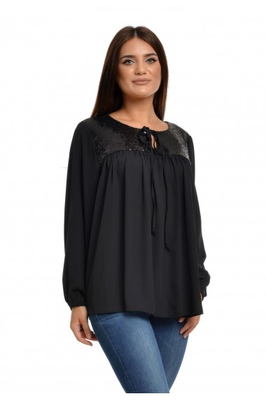 Bluza Eranthe cu paiete neagra