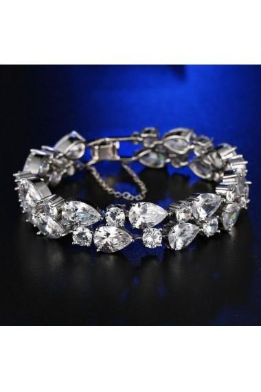Bratara Paloma Silver Crystal