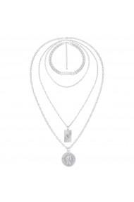 Set coliere Adelina-Argintiu
