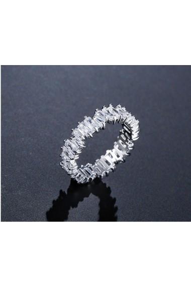 Inel Edith Silver Crystal-Nr. 7