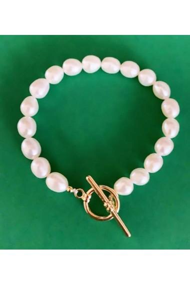 Bratara Sandra perle naturale-17 cm