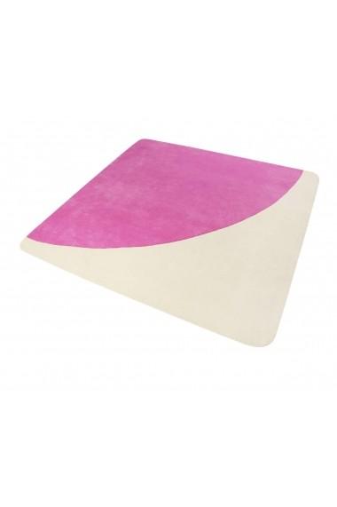 Covor Esprit Modern & Geometric Corro , Patrat, Roz, 150x150
