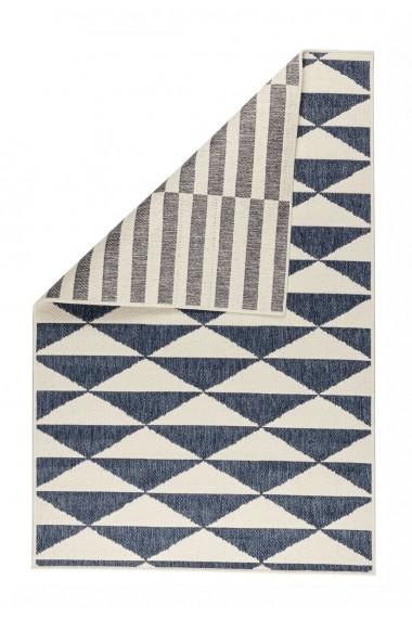 Covor Decorino Reversibil Modern & Geometric Margaret Albastru 120x180 cm