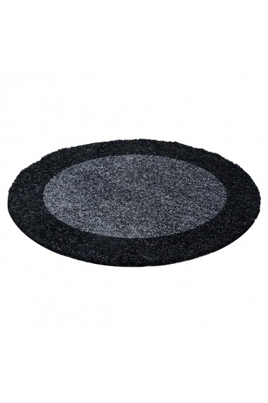 Covor Decorino Shaggy Louis Rotund Antracit 160x160 cm