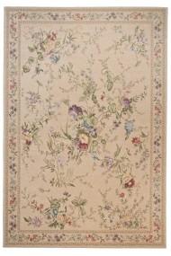Covor Decorino Floral Riaba Bej 80x150 cm