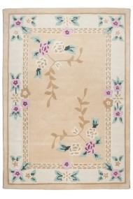 Covor Decorino Floral Kova Lana Crem 90x160 cm