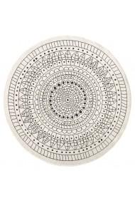 Covor Bougari Modern & Geometric Twin Rotund Negru 140x140 cm