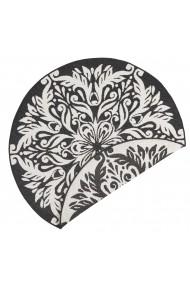 Covor Bougari Modern & Geometric Twin Supreme Rotund Negru 140x140 cm