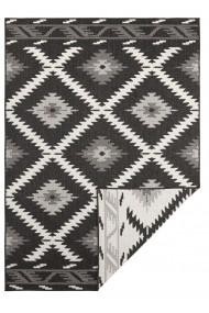 Covor Bougari Modern & Geometric Twin Supreme Negru 80x350 cm