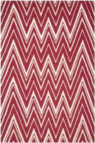 Covor Safavieh Modern & Geometric Luca Lana Rosu/Bej 160x230 cm