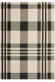 Covor Safavieh Modern & Geometric Mendez Negru/Bej 120x180 cm