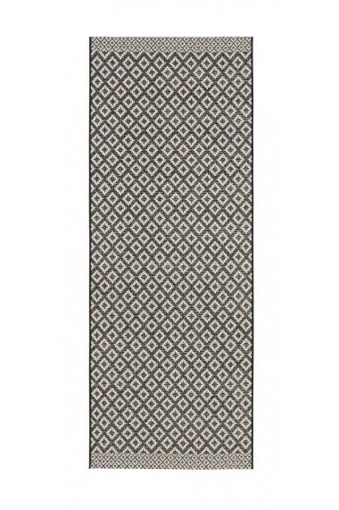 Covor Zala Living Modern & Geometric Harmony Negru 76x200 cm