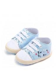 Tenisi bebelusi bleu - I love bunny